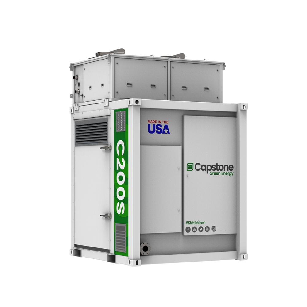Capstone Green Energy เครื่องกำเนิดไฟฟ้ากังหันแก๊ส หรือไมโครเทอร์ไบน์ C200s_Microturbines