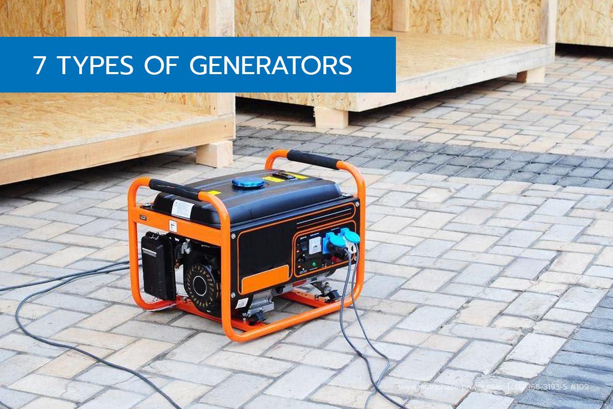7 Different Types of Generators Diesel Generators The Inside of a Diesel Generator · Natural Gas Generators Outdoor Unit of a Generator · Gasoline Generators