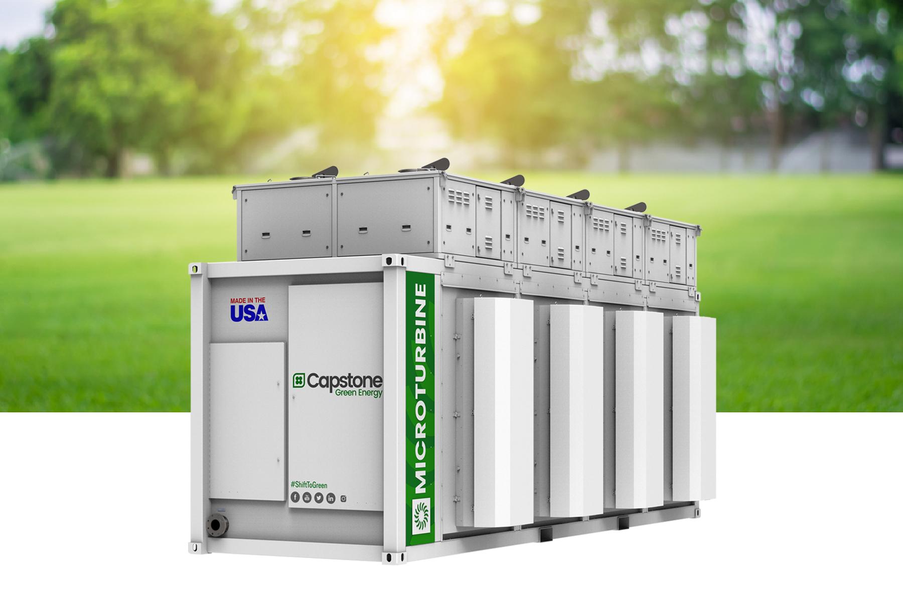 เครื่องกำเนิดไฟฟ้ากังหันแก๊ส ไมโครเทอร์ไบน์ (Microturbine) แบรนด์ Capstone Green Energy