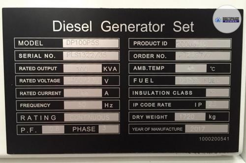 MultiphasePower Generator DP100P5S 7