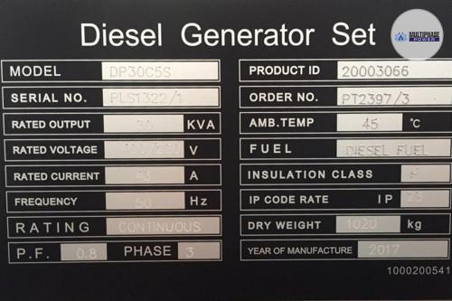 MultiphasePower Generator DP30C5S 9