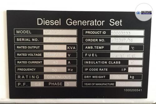 MultiphasePower Generator DP30P5S 6
