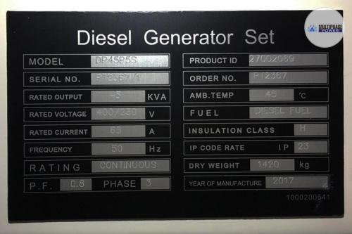 MultiphasePower Generator DP45P5S 8