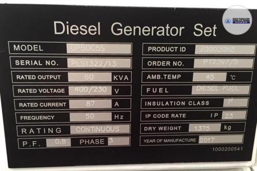 MultiphasePower Generator DP60C5S 4