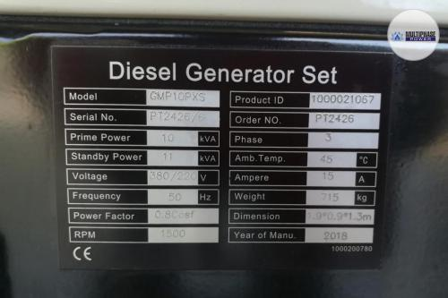 MultiphasePower Generator GMP10PXS-Potise 12
