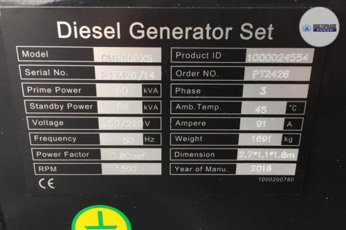 MultiphasePower Generator GMP60PXS 5