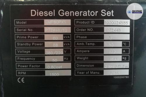 MultiphasePower Generator GMP80PXS 11