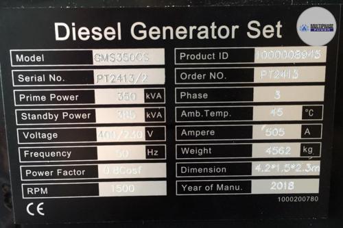 MultiphasePower Generator GMS350CS 6