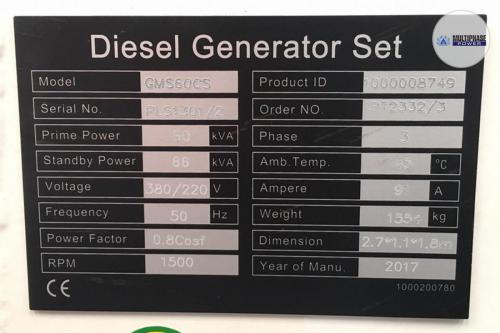 MultiphasePower Generator GMS60CS 11