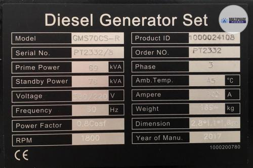 MultiphasePower Generator GMS70CS-R 11