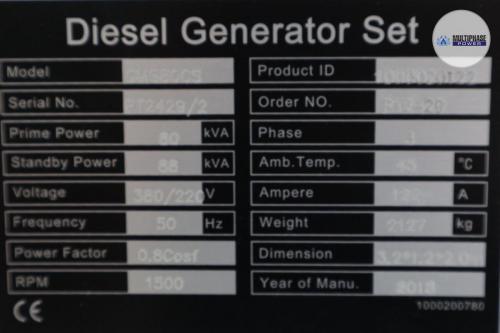 MultiphasePower Generator GMS80CS 19