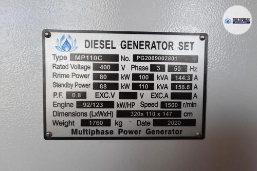 Multiphase Power Generator MP110C YN 8