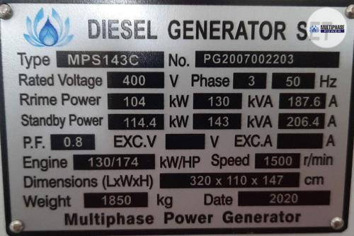 Multiphase Power Generator MP143C YN 8