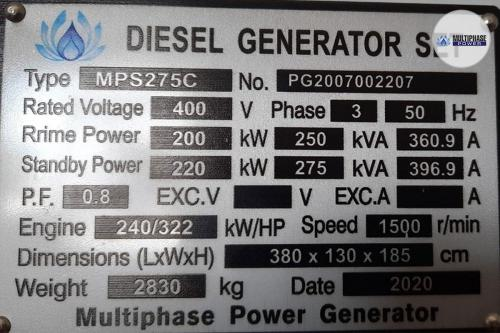 Multiphase Power Generator MP275C YN 10