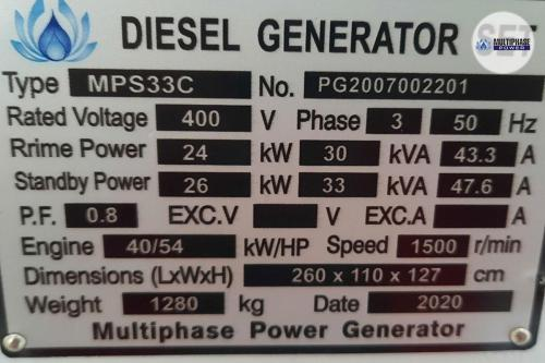 Multiphase Power Generator MP33C YN 7