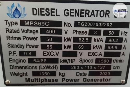 Multiphase Power Generator MP69C YN 8