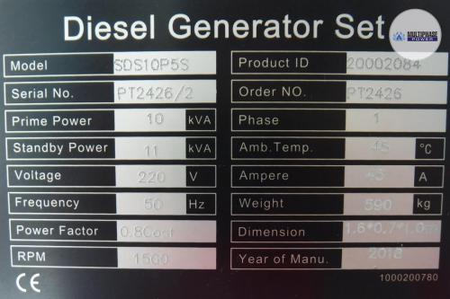 MultiphasePower Generator SDS10P5S 10
