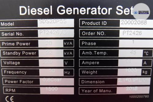 MultiphasePower Generator SDS20P5S 10