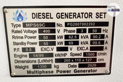 เครื่องกำเนิดไฟฟ้าดีเซล 69 kVA