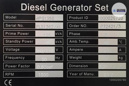 Multiphase Power Generator WPS135S 6
