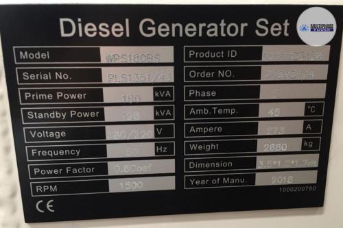MultiphasePower Generator WPS180BS 6