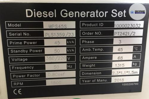 Multiphase Power Generator WPS45S 5