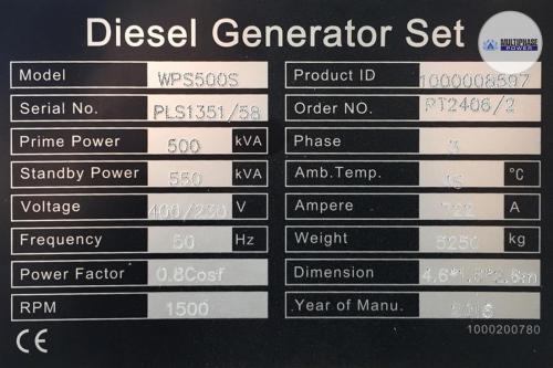 Multiphase Power Generator WPS500S 10